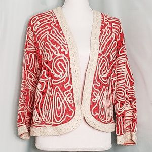 Chico's Abstract Cardigan Sweater